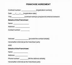 Franchise Contract Samples Free 20 Sample Franchise Agreement Templates In Google