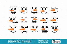 Snowman Faces Clip Art Snowman Faces Svg Bundle Digitanza
