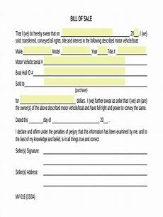 Sale As Is Form For Car Free 7 Generic Bill Of Sale Form Samples In Sample