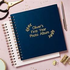 My First Year Photo Album Personalised My First Year Photo Album By Posh Totty