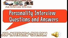 Personality Interview Questions And Answers Personality Interview Questions And Answers Youtube