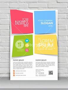 One Page Flyer Colorful Creative One Page Flyer Banner Or Template Design