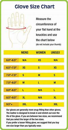 Rubber Glove Size Chart Harbinger Fitness Leader In Fitness Accessories Since