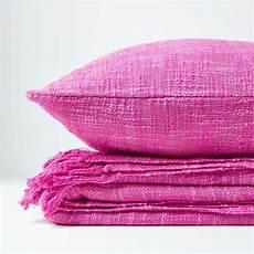 nirvana slub cotton pink throw