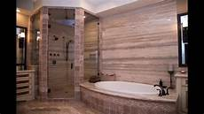 Travertine Bathrooms Silver Travertine Master Bath