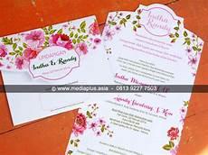 mp 158 undangan softcover tema floral cetak undangan