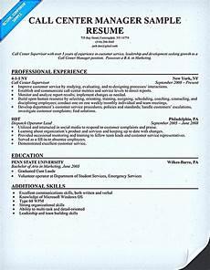 Call Center Job Description For Resume Call Center Resume For Professional With Relevant