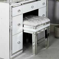 merrick white glass mirrored dressing table stool cimc