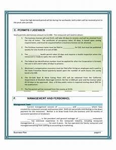 Blank Business Plan Template Blank Restaurant Business Plan Template Free Download