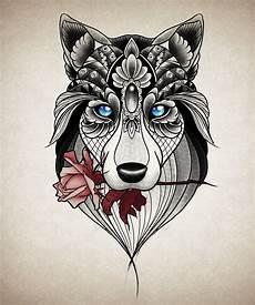 desenho tatuagens tatuagem feminina lobo ornamental gabstattooart