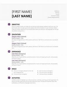 Template For A Resume Microsoft Word 45 Free Modern Resume Cv Templates Minimalist Simple