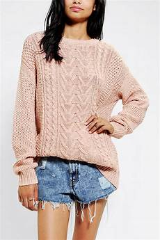 stricken pullunder lyst outfitters bdg fall for cable knit sweater in