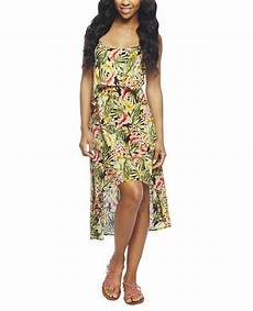 hawaiian clothes sealed tropical ruffle high low dress seal dresses