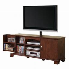 walker edison 60 in brown wood tv stand with mount home