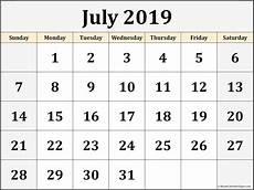 July 2020 Calendar Printable July 2019 Blank Calendar Collection