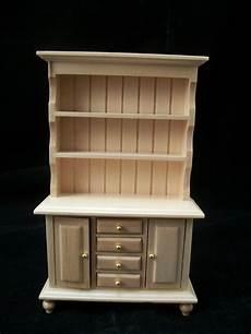 kitchen quot oak quot hutch cupboard t4296 miniature dollhouse