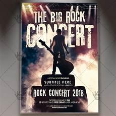 Concert Flyer Psd The Big Rock Concert Club Flyer Psd Template Psdmarket