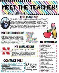 Meet The Teacher Newsletter Templates Meet The Teacher Newsletter Editable Bright Stripes