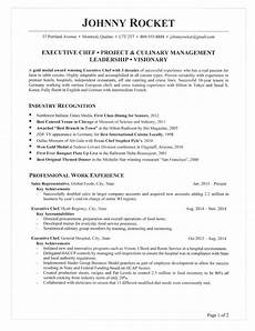 Example Of Chef Resume Executive Chef Resume