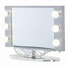 Vanity Girl Hollywood Starlet Lighted Tabletop Vanity Mirror Starlet Lighted Vanity Mirror In Simple Frame Design