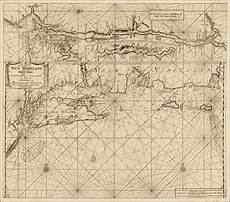 Antique Charts A Fine Early Sea Chart Of New York And Southern New