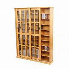 large solid oak wood media cabinet cd dvd storage shelves