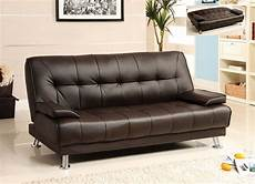 Leather Futon Sofa 3d Image by Futon Sofa Bed Brown Leather Removable Armrests