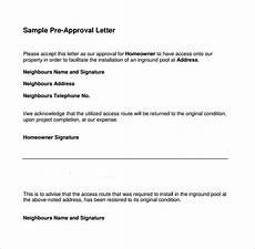 Pre Approval Letter Sample Free 7 Sample Pre Approval Letter Templates In Ms Word Pdf