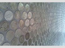 DIY Coin Flooring : nickle tile floor