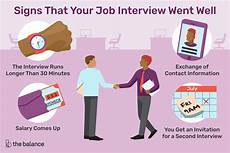 Things To Do For A Job Interview Signs That Your Job Interview Went Well