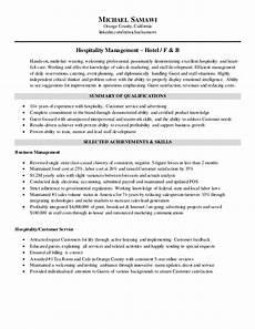 Hospitality Manager Resume Michael Samawi Resume Hospitality Management November 2015