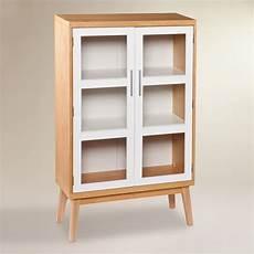 glass door abie storage cabinet world market