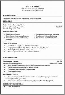 Science Resume Examples Computer Science Resume Sample Career Center Csuf