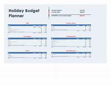 Holiday Budget Template Holiday Budget Planner