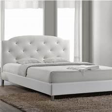 baxton studio canterbury white upholstered bed 28862