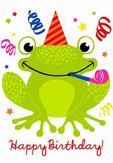 Kids Birthday Cards To Print Cute Smiling Frog Birthday Card Greetings Island