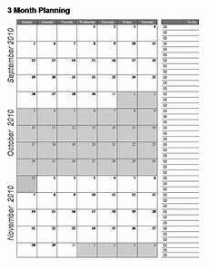 Calendar Template 3 Months Per Page 3 Month Calendar Template Word 3 Month Calendar Free