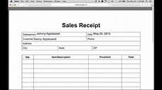 How To Make A Payment Receipt How To Write An Itemized Sales Receipt Form Youtube