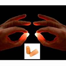 Light Up Thumbs Junior Pair Of Red Light Up Thumbs X2 Medium Easy Magic