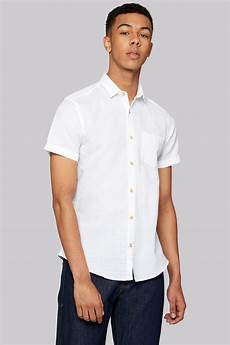 moss slim fit white linen sleeve casual