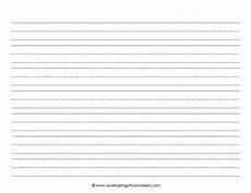 Printable Lined Paper Kindergarten Lined Paper For Kids Landscape World Of Reference
