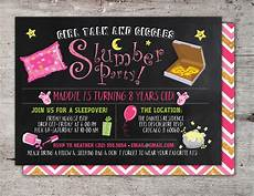 Free Printable Slumber Party Invitations Slumber Party Invitation Girls Slumber Party Invitations