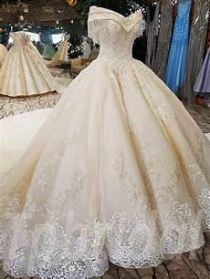 luxury wedding dress with princess church bridal