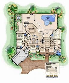 Floor Plan Of A Villa Mediterranean House Plan Luxury Home Floor Plan With