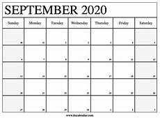 Calendar 2020 September Printable Free Printable September 2020 Calendar
