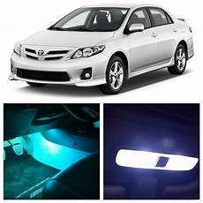 2001 Toyota Corolla Dome Light 9pcs Ice Blue White Led Lights Interior Package Kit For