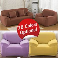 elastic spandex sofa cover sofa slipcovers polyester solid