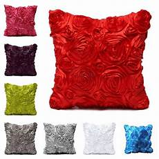 Floral Sofa Slipcover 3d Image by 3d Satin Flower Square Throw Pillow Cushion