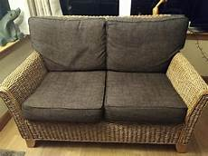 Brown Wicker Sofa 3d Image by Brown Wicker Sofa X2 Excellent Condition In Falkirk