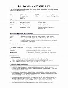 Curriculum Vitae Examples For Students Curriculum Vitae Sample For Student Templates At